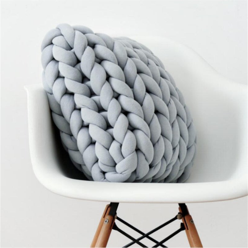 Handmade Knitting Square Chunky Wool Pillow Cushions