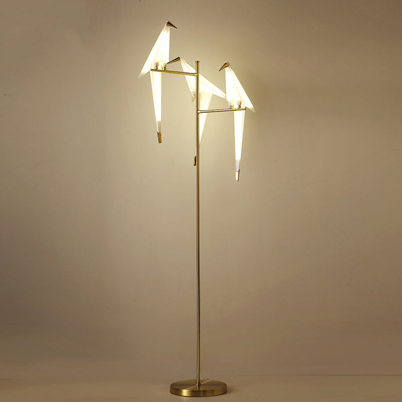 Nordic Creative Three Lights Bird Floor Lamp For Living Room