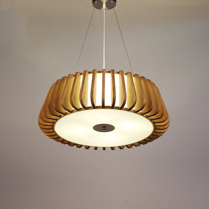 Handmade Wood Pedant Nordic Style Solid Wood Ceiling Light