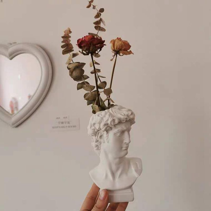 Creative Portrait Vase Human Head Flower Vases Decorative