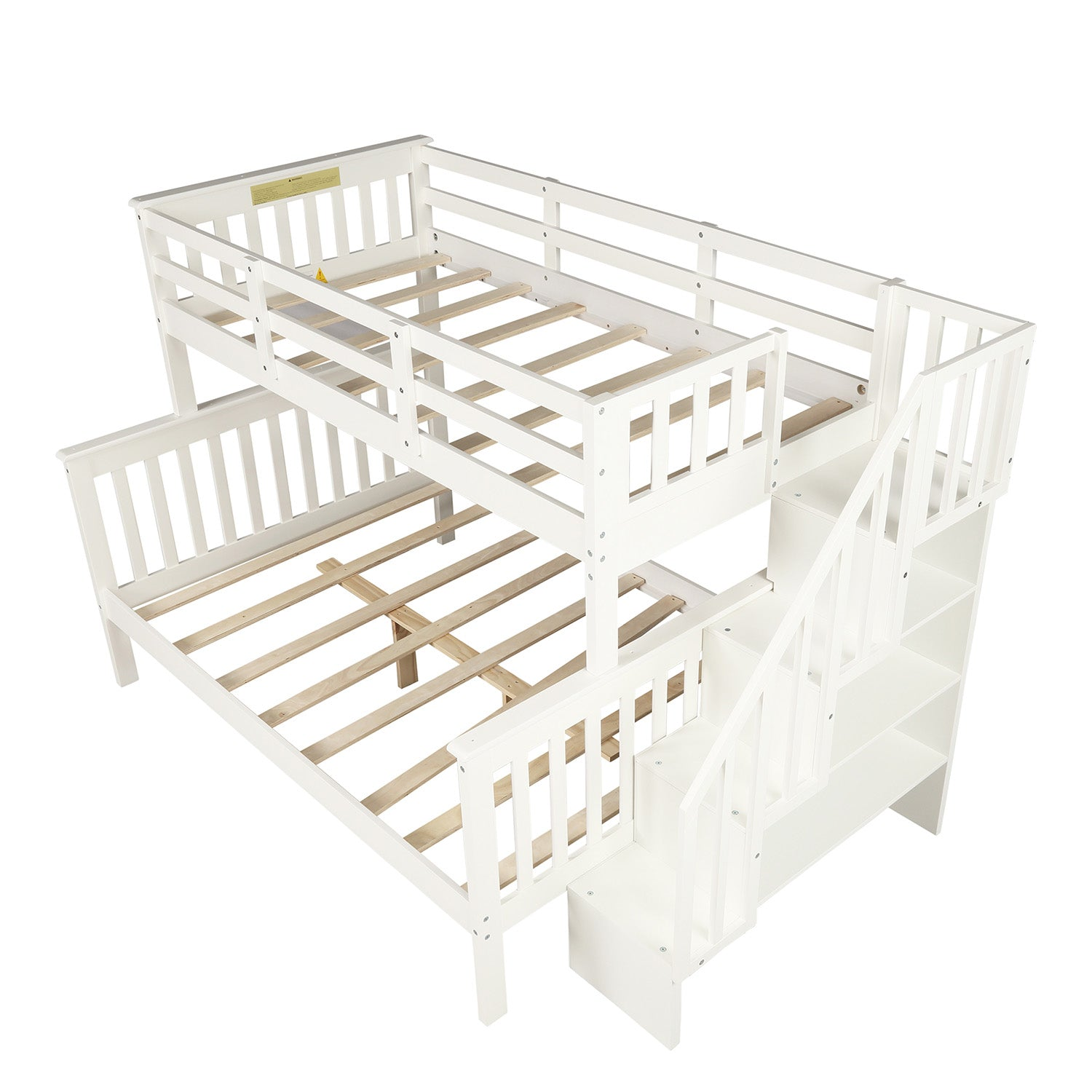 Twin-Over-Full Bunk Bed with Storage
