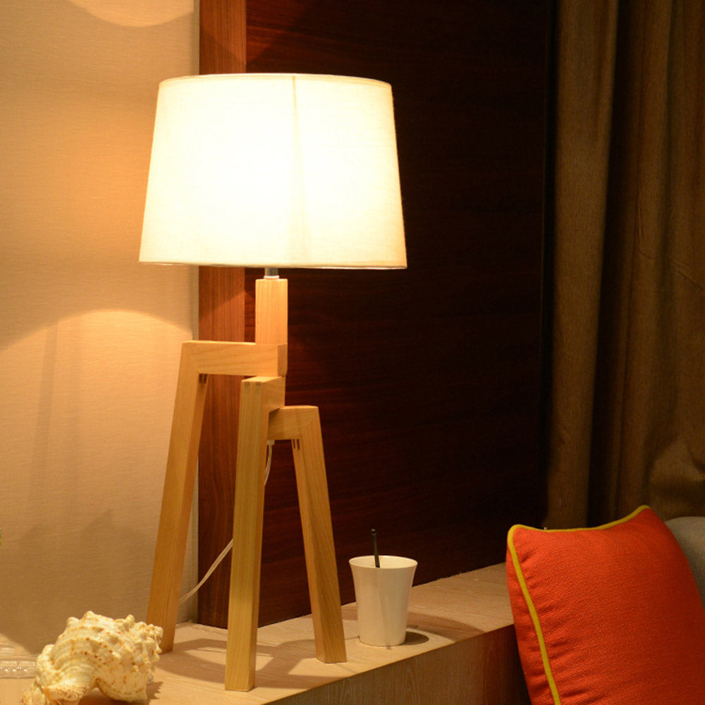 Nordic Solid Wood Beside Desk Lamp Unique Home Decoration