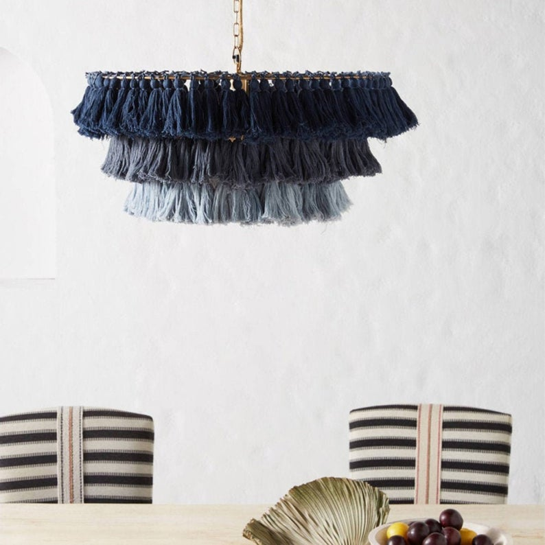 Handmade Woven Rope Pendant INS Creative Home Decoration Lampshade