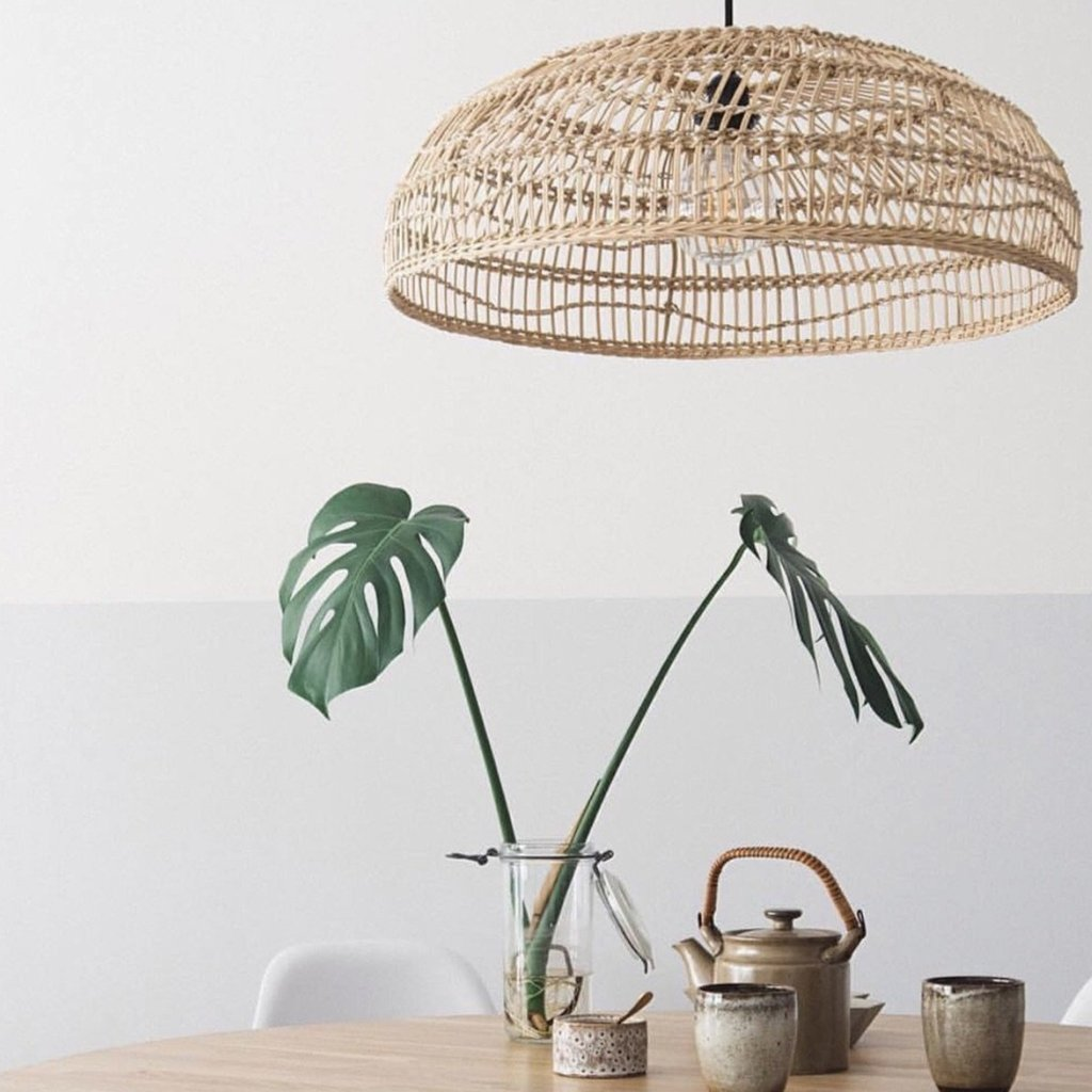 Natural Wicker Hanging Lamp Rattan Pendant Lampshade