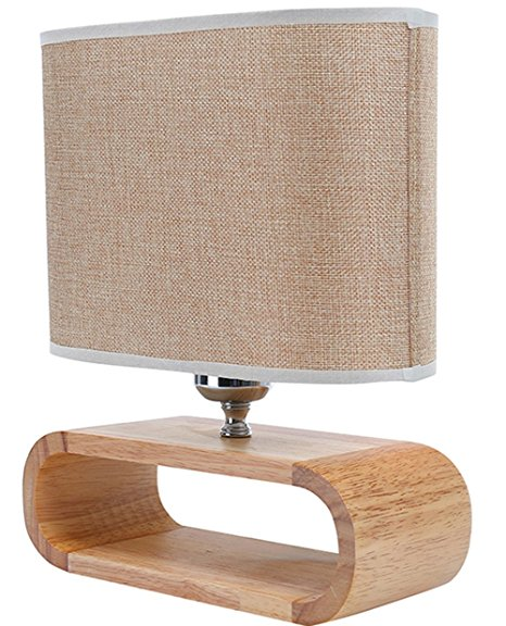Modern Fabric Table Lamp Elegant Bedside Desk Lamps