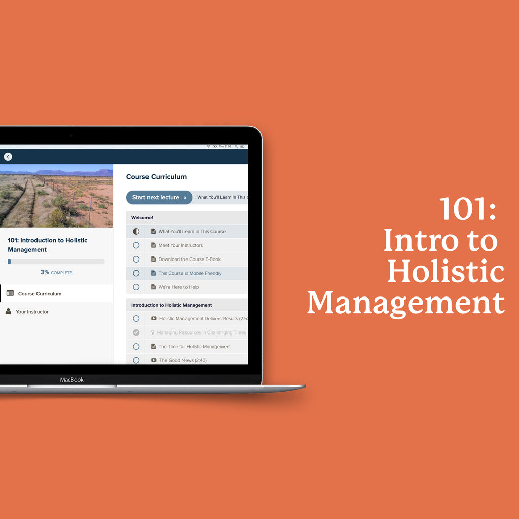 101: Introduction to Holistic Management
