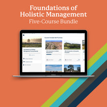 Load image into Gallery viewer, Foundations of Holistic Management Course Bundle