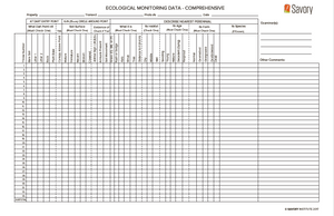 Ecological Monitoring Forms - Comprehensive (Forms)