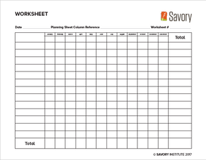 Standardized Worksheet