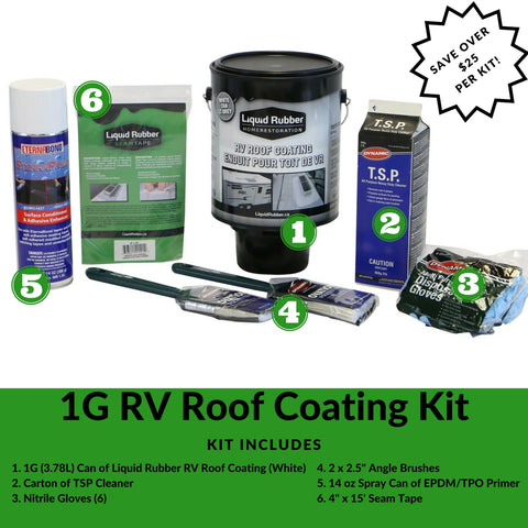 Liquid Rubber Canada 1G RV Roof Coating Kit
