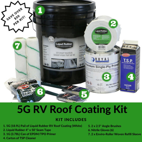 Liquid Rubber Canada 5G RV Roof Coating Kit