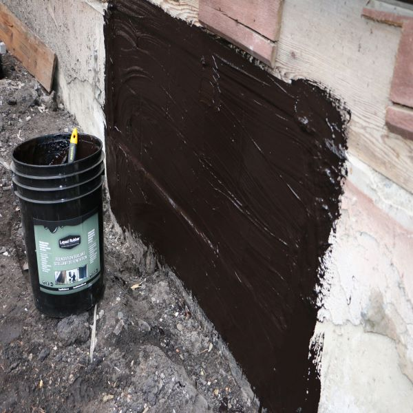 Liquid Rubber Foundation Sealant - Waterproof Exterior Foundation