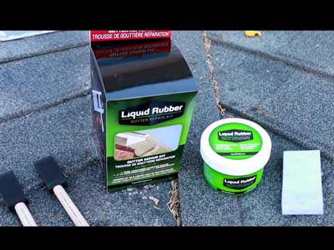 Liquid Rubber Gutter Repair Kit