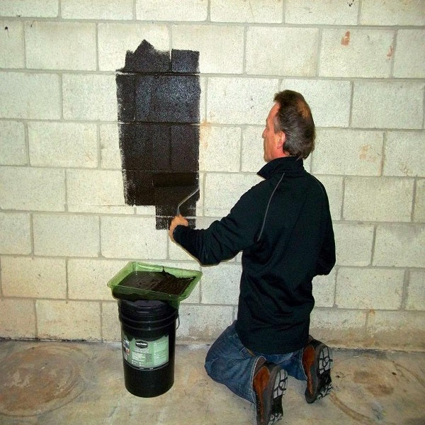Basement - Interior Walls Waterproofing - Liquid Rubber Coating