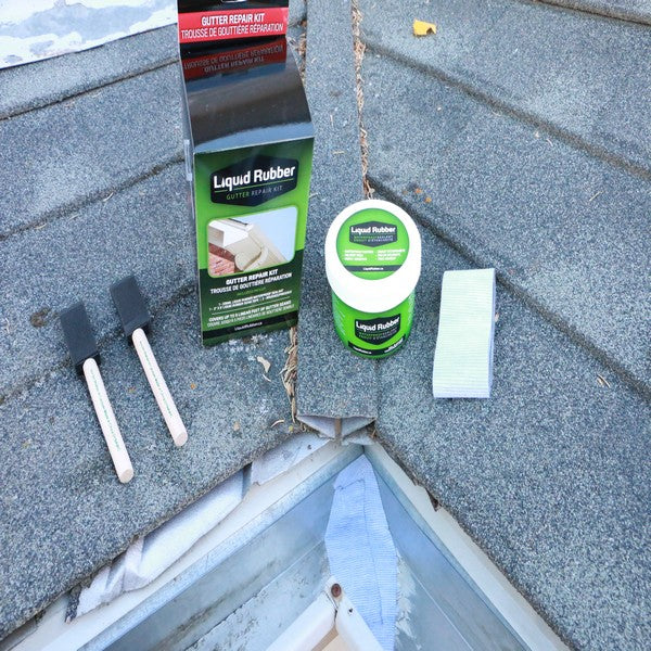 Liquid Rubber Gutter Repair Kit - Leak