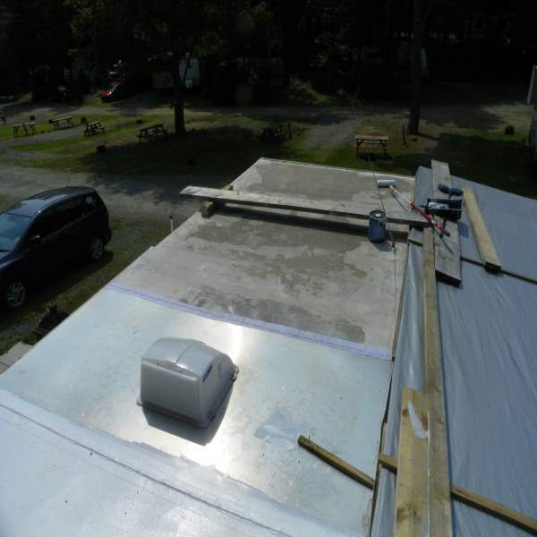 Liquid Rubber Rv Roof Application With Liquid Rubber Rv