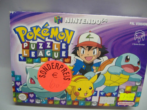 NINTENDO 64 Pokemon Puzzle League NEU & OVP