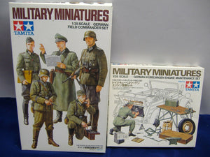 TAMIYA 35298 German Field Commander Set /35220 German Kübelwagen Engine Set 1:35  Neu & Ovp