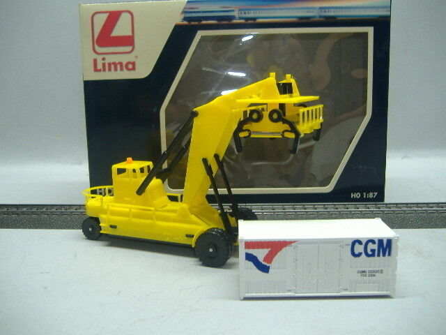 LIMA HL 8001 Container Fork Lift & 1x20 ft. Container H0 1:87 Neu&OVP