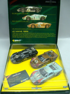 SCALEXTRIC sport C2529A 2003 LE MANS 1966 3 Slotcars Ford GT 40 NEU & OVP