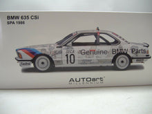 Laden Sie das Bild in den Galerie-Viewer, AutoArt Gatway 88646* BMW 635 CSi SPA 1986 1:18* NEU & OVP