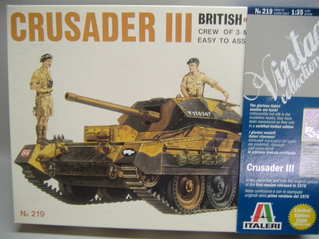 ITALERI  219 CRUSADER III Vintage Collection 1:35 Neu & Ovp