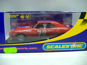 SCALEXTRIC C2577 Chevrolet Camaro 1969 V/J Racing No. 72 NEU & OVP