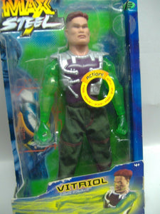Mattel Max Steel - VITRIOL - Actionfigur mit Funktionen NEU & OVP
