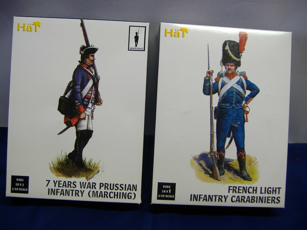 Hät 9303 French Light Infantry Carabiniers & 9401 Prussian Infantry 1:32 Neu/Ovp