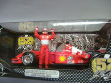 Laden Sie das Bild in den Galerie-Viewer, Mattel Hot Wheels* Ferrari F2001 Michael Schumacher rot 1:18* NEU & OVP