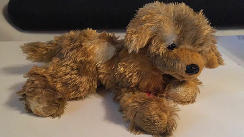 Hermann Teddy Collection Stoffhund Plüschtier  braun NEU