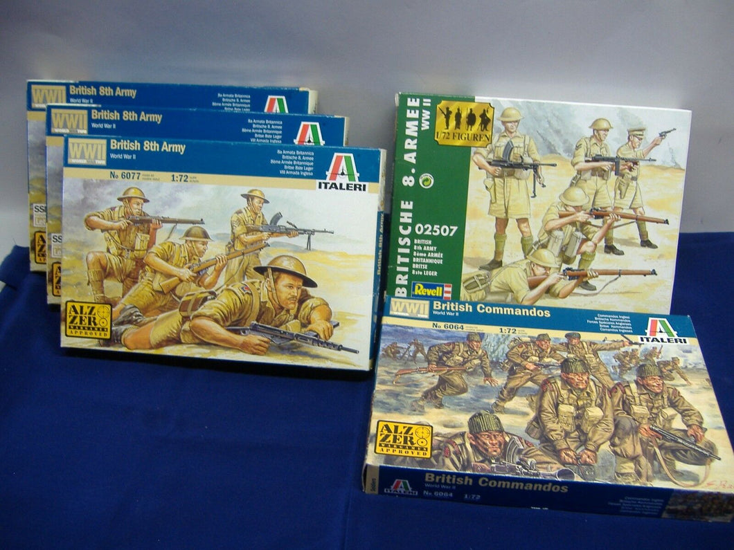 Italeri 6077 3x British 8th Army & 6064 British Com. / Revell 02507 1:72 Neu/Ovp
