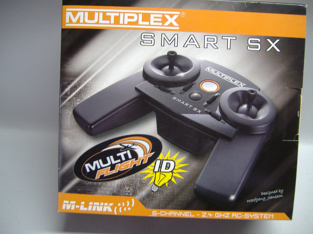 MULTIPLEX 15305 Fernbedienung SMART SX Multi Flight 6-Channel 2.4 Ghz RC-System Neu & OVP