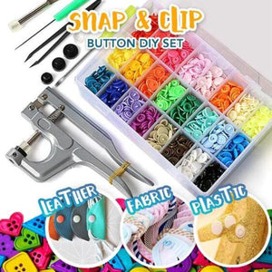 Snap Button DIY Set (1 Tool + 150 Pcs)