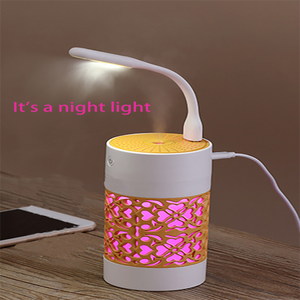 Mini 3 in 1 fan night light USB night light air humidifier