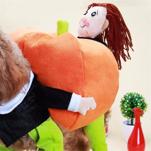 Dog Fashion Pumpkin Costume