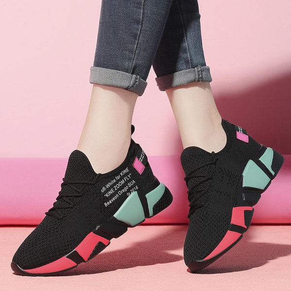 Women Sneakers Shoes White/Black Breathable Spring Summer Casual Shoes
