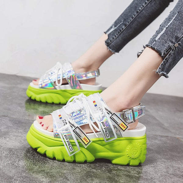 2019 new fairy wind wild thick bottom Roman platform shoes sandals women