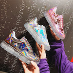 Wild sequin crystal bear bottom Hong Kong-flavored shoes sneakers
