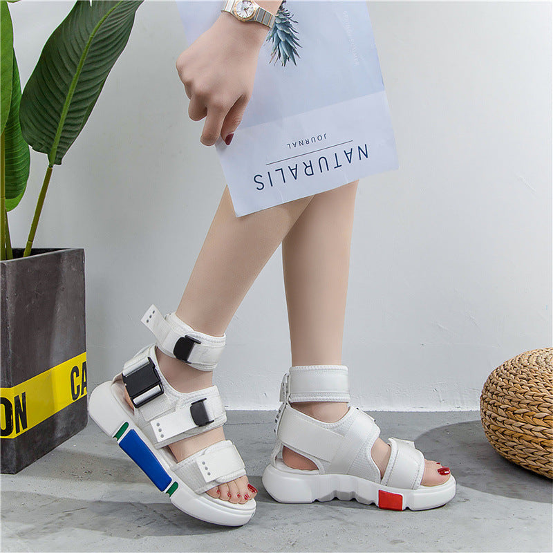 Seven color 2019 net red student wild casual sports beach shoes