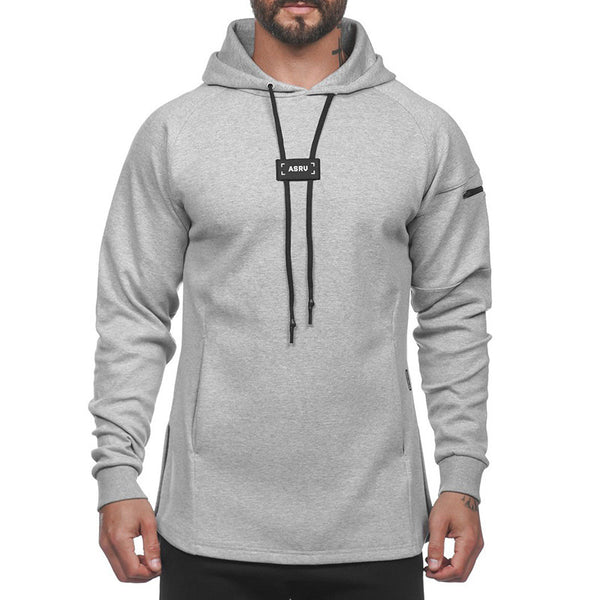 Sports hooded long sleeve jacket