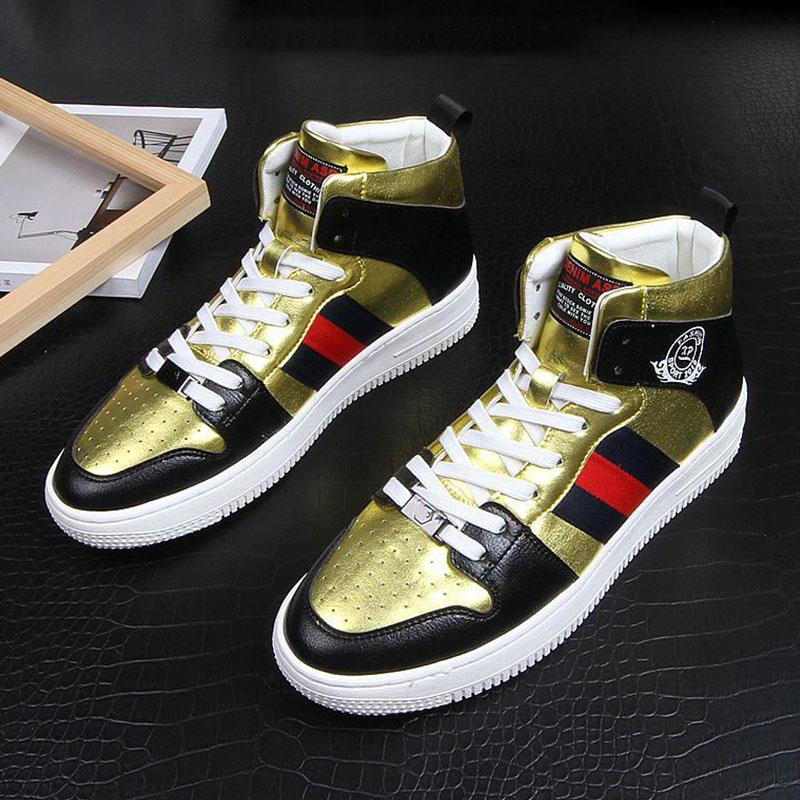 Personality platform high-top sneakers