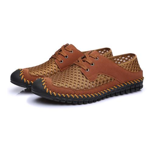 Mesh Genuine Leather Casual Shoes Loafers