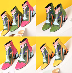 High-heeled Martin boots for fashionable ladies