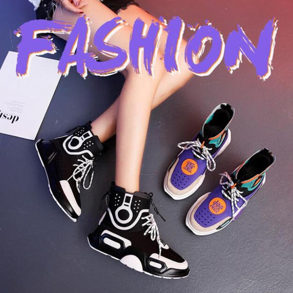 2019 New High Top Stars Shoes Women Sneakers Breathable Cotton Casual Mixed Colors Leisure Shoes