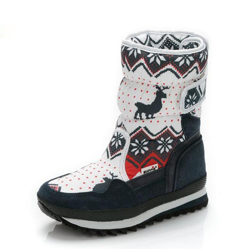 Christmas Deer Women Waterproof Non-slip Snow Boots