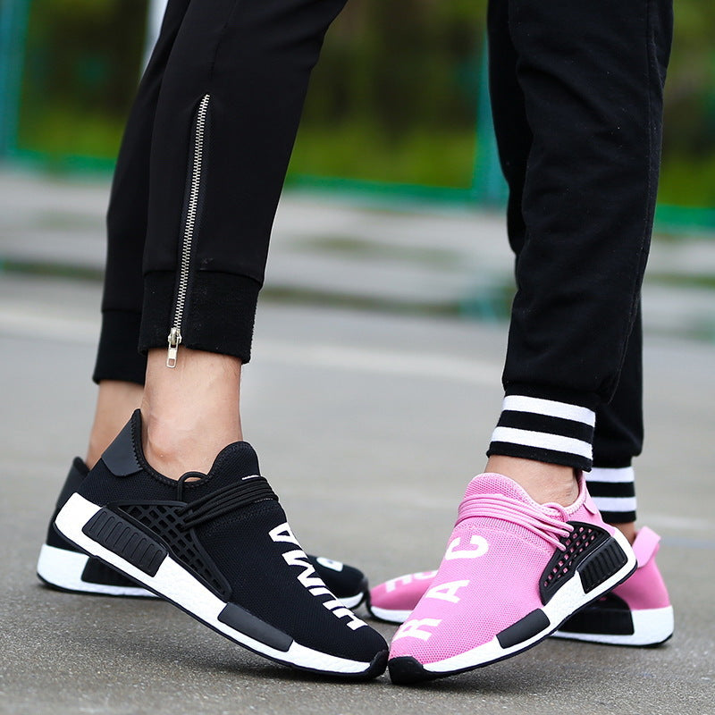 2019 autumn and winter flying weaving couple casual running shoes