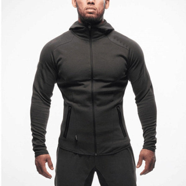 Long sleeve outdoor hooded jacket