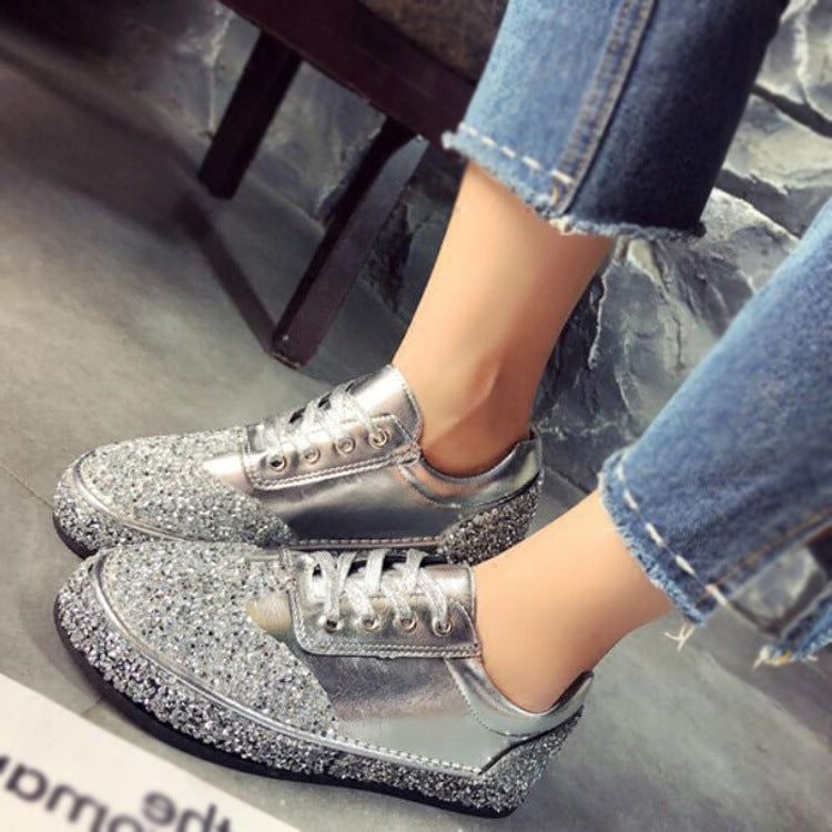 Fashion Bling High Quality Soft Casual Shoes For Woman