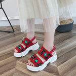 2019 summer new rhinestone ins tide student wild sports platform shoes